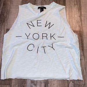 Forever 21 New York City blue tank top